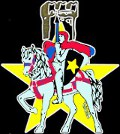Knight on Horseback Logo with medieval yellow star (Right) - Pub Stella d'Oro